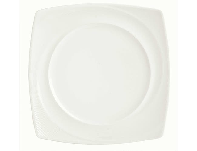 Syracuse China Silk Royal Rideau Square Plate, 10.25 inch -- 12 per case.