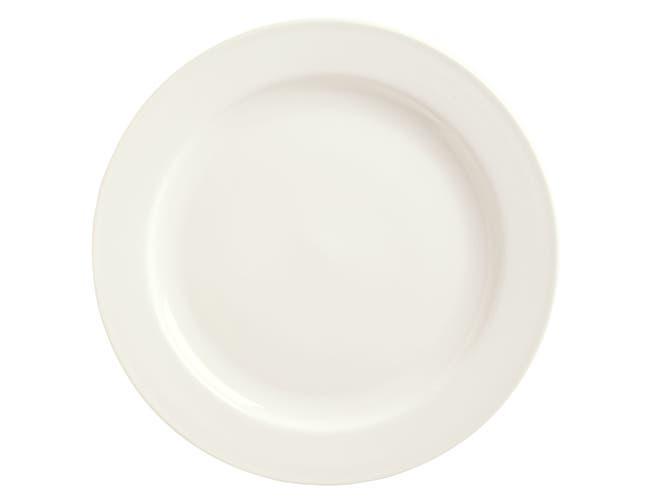 Syracuse China Flint White Undecorated Frama Plate, 12 inch -- 12 per case.