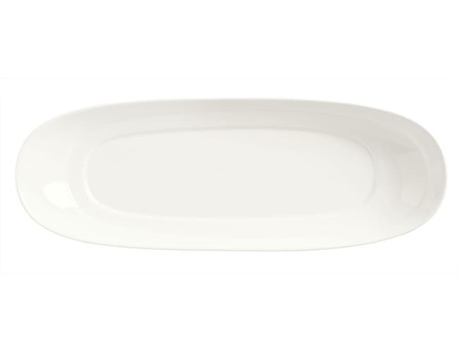 Syracuse China Slenda Royal Rideau Long Plate, 14 x 5.5 inch -- 12 per case.