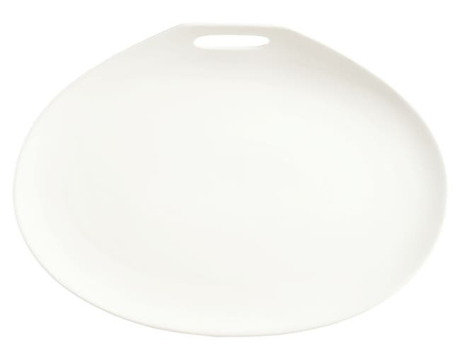 Syracuse China Slenda Practica Plate, 14 x 10 inch -- 12 per case.