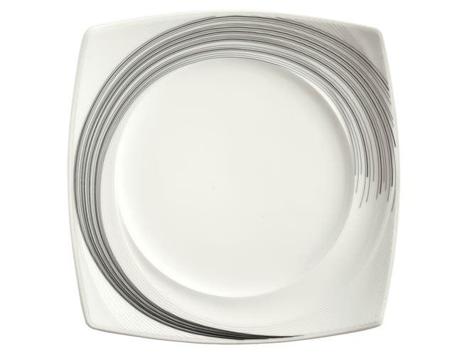 Syracuse China Silk Tracer Square Plate, 11.75 inch -- 12 per case.