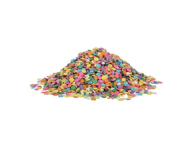 Sprinkle King Pastel Confetti Blend Non Partially Hydrogenated Decorettes, 5 Pound -- 4 per case.