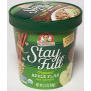 Dr. Mcdougalls Apple Flax Hot Oatmeal Cup, 2.3 Ounce -- 6 per case.