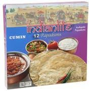 Indianlife Cumin Papadum, 4.23 Ounce -- 8 per case