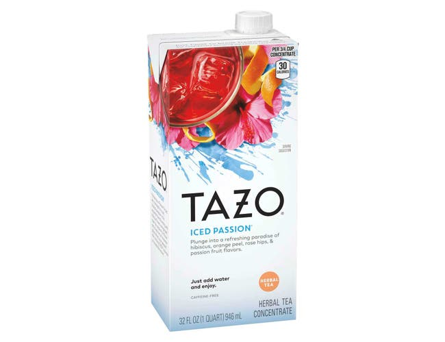 Tazo Passion Iced Tea Concentrate 1:1, 32 ounce -- 6 per case