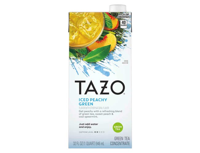 Tazo Peachy Green Iced Tea Concentrate 1:1, 32 ounce -- 6 per case