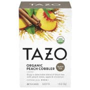 Tazo Organic Peach Cobbler Tea - 20 tea bags per pack -- 6 packs per case