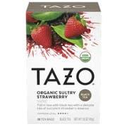 Tazo Organic Sultry Strawberry Tea - 20 tea bags per pack -- 6 packs per case