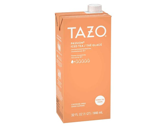 Tazo Unsweetened Passion Iced Tea Concentrate 5:1, 32 ounce -- 6 per case