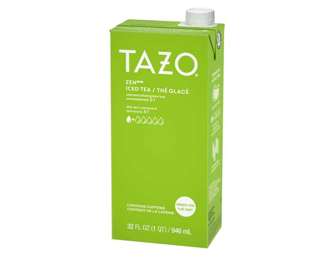 Tazo Unsweetened Zen Green Iced Tea Concentrate 5:1, 32 ounce -- 6 per case