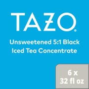 Tazo Unsweetened Black Iced Tea Concentrate 5:1, 32 ounce -- 6 per case