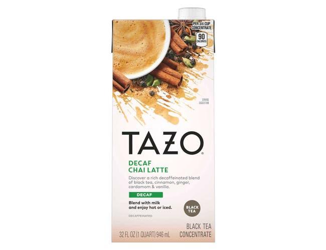 Tazo Decaf Chai Latte Tea Concentrate 1:1, 32 ounce -- 6 per case