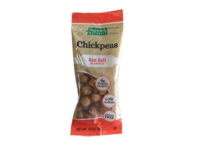 Sunrich Naturals Sea Salt Seasoned Chickpeas, 0.75 Ounce -- 150 per case.