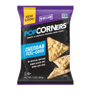Popcorners White Cheddar Corn Chips, 3 Ounce -- 6 per case.