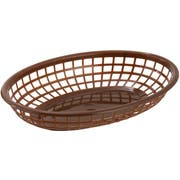 Winco Brown Oval Fast Food Basket, 9 1/2 x 5 x 2 inch -- 36 per case