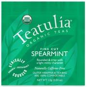 Teatulia Organic Spearmint Wrapped Standard Tea -- 50 per case