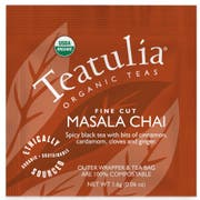 Teatulia Masala Chai Wrapped Standard Tea -- 50 per case