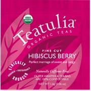 Teatulia Organic Hibiscus Berry Wrapped Standard Tea -- 50 per case