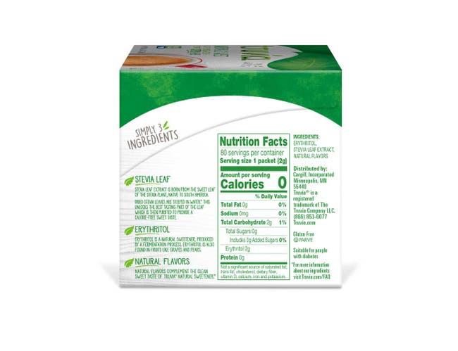 Truvia 2 Gram Sweetener, 80 count per pack -- 12 per case.