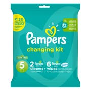 Pampers Size 5 Change Kit Diaper -- 10 per case.