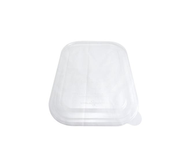 World Centric Ingeo Compostable Unbleached Plant Fiber Tray Lid Only, 10 x 7.5 inch -- 400 per case.
