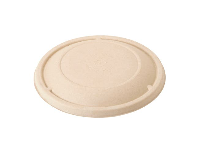 World Centric Compostable Unbleached Plant Fiber Lid for 24 and 32 Ounce Fiber Bowl -- 500 per case.