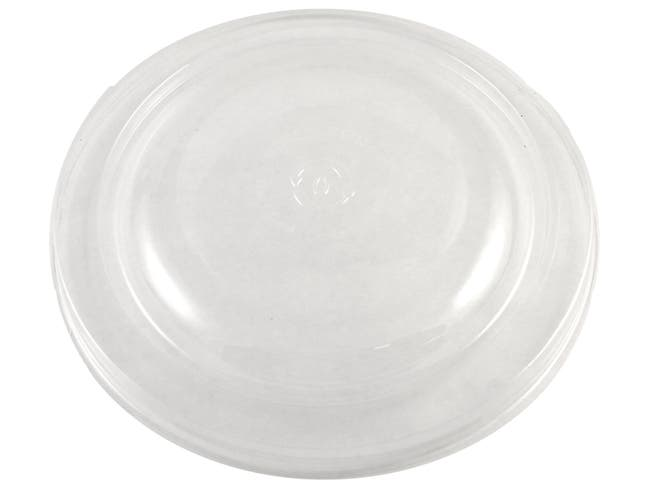 World Centric Clear PLA Lid for Plant Fiber 24 and 32 Ounce Bowl -- 300 per case.