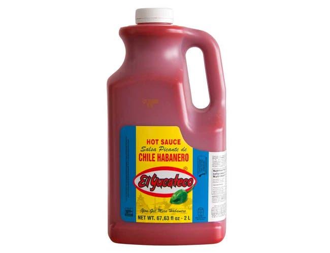 El Yucateco Red Habanero Hot Sauce, 67.63 Fluid Ounce -- 2 per case