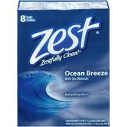 Zest Ocean Breeze 4 Ounce Bar Soap, 8 count per pack -- 6 per case.