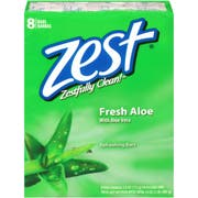 Zest Fresh Aloe 4 Ounce Bar Soap, 8 count per pack -- 6 per case.