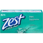 Zest Aqua 3.2 Ounce Bar Soap, 6 count per pack -- 8 per case.
