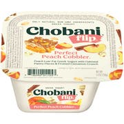 Chobani Flip Peach Yogurt, 5.3 Ounce -- 12 per case.