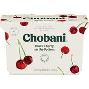 Chobani Greek Yogurt 0 Percent Black Cherry, 21.2 Ounce -- 6 per case.