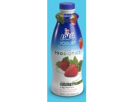 Lala Strawberry Yogurt Smoothie with Probiotics, 32 Fluid Ounce -- 6 per case