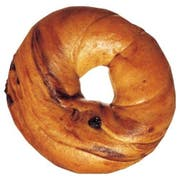 Burry Foodservice Thaw and Sell Sliced Cinnamon Raisin Bagel, 4 Ounce -- 72 per case.