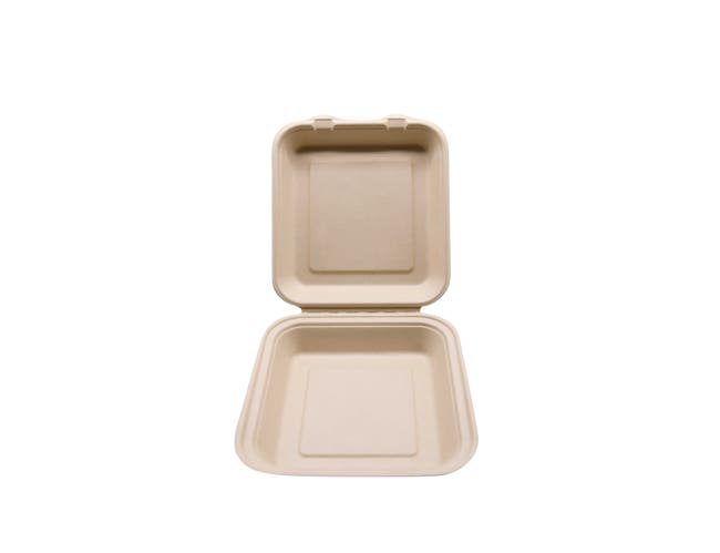 Total Papers Wheat Straw Single Compartment Hinged Lid Container, 9 inch -- 200 per case