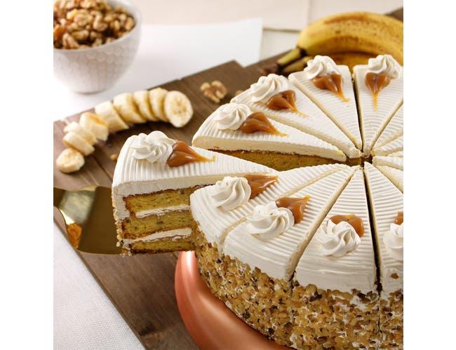 Davids 14 Cut Banana Foster Cake -- 2 per case.