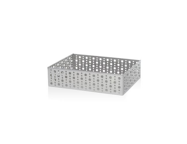 Front Of The House Rectangle Stainless Steel Dotted Napkin Holder, 9 x 6 inch -- 4 per case
