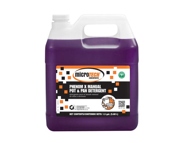 US Chemical MicroTech Phenom X Manual Pot and Pan Detergent, 1.5 Gallon -- 1 each.