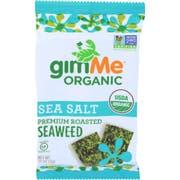 Gimme Organic Sea Salt Premium Roasted Seaweed - Cello, 0.17 Ounce -- 48 per case