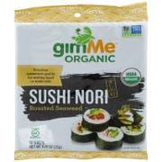 Gimme Organic Sushi Nori Roasted Seaweed, 0.81 Ounce -- 12 per case
