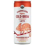 Chameleon Cold Brew On The Go Cinnamon Dolce Whole Milk Latte, 8 Fluid Ounce -- 12 per case