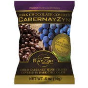 The Wine Rayzyn CabernayZyn Dark Chocolate Covered Dried Cabernet Wine Grapes, 0.5 Ounce -- 120 per case