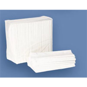 Value Essentials 2 Ply 1/8 Fold Dinner Napkin, 15 x 17 inch -- 3000 per case.