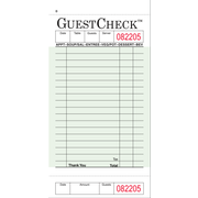 Value Essentials Green 1 Part 18 Lines Board Guest Check, 3.50 x 6.75 inch -- 2500 per case.