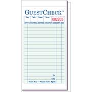 Value Essentials Green 2 Part 17 Lines Carbon Guest Check, 3.50 x 6.75 inch -- 2500 per case.