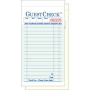 Value Essentials Green 2 Part 17 Lines Carbonless Guest Check, 3.40 x 6.75 inch -- 2500 per case.