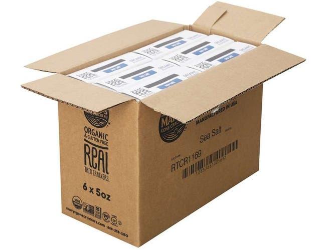 Marys Gone Crackers Organic Sea Salt Real Thin Cracker, 5 Ounce -- 6 per case