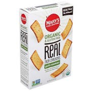 Marys Gone Crackers Organic Gluten Free Garlic Rosemary Real Thin Crackers, 5 Ounce -- 6 per case