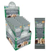 Royal Hawaiian Orchards Single Serve Sea Salt and Cracked Pepper Macadamia Nuts, 1 Ounce - 12 count per pack -- 6 packs per case